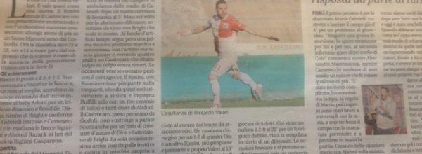 """I titoli dei giornali. Voce Romagna: """"Valori ci mette la lode."""""""
