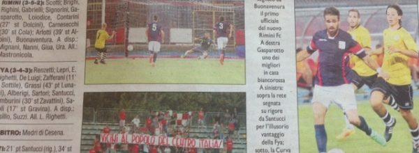 """I titoli dei giornali. Corriere Romagna: """"Il Rimini ribalta il derby in due minuti."""""""