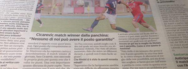 """I titoli dei giornali. Voce Romagna: """"Rimini in testa, ma non c'è tempo per esultare."""""""