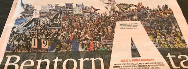 Titoli dei giornali. Gazzetta dello sport: BentornAta.