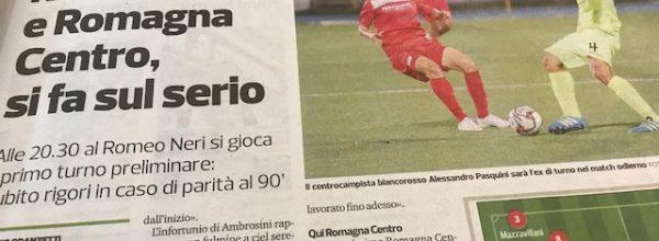 titoli dei giornali.Corriere Romagna:Rimini e Romagna Centro si fa sul serio.