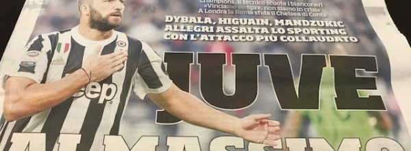 """I Titoli dei giornali. Stadio: """" Juve al massimo."""""""