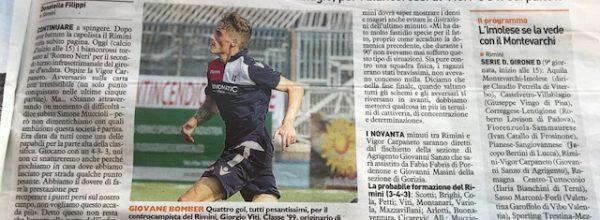 """I titoli dei giornali. Resto del Carlino: """"Il Rimini sogna un mercoledì da leoni."""""""