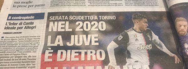 """Libero:  """"Nel 2020 la Juve è dietro all'Atalanta."""""""