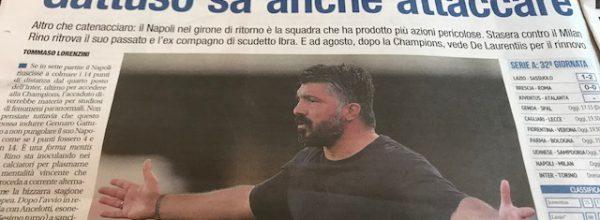 """Libero:  """"Gattuso sa anche attaccare."""""""