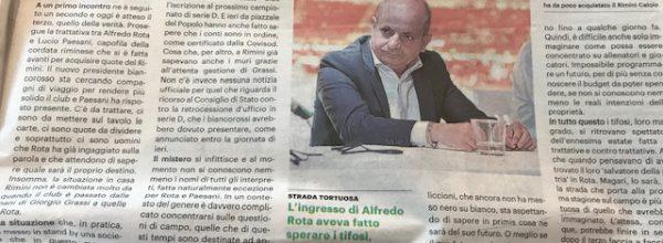 """I titoli dei giornali. Resto del Carlino: """"Il Rimini in bilico tra nuovi soci e tribunale.  """""""