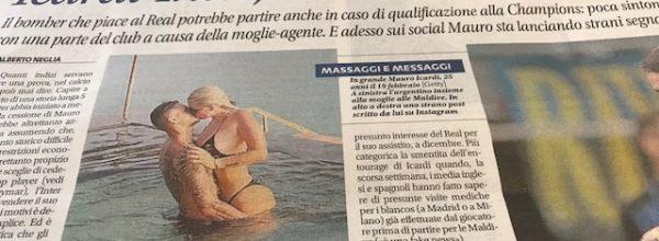 "Libero: ""Icardi Inter, c'è aria di divorzio."""