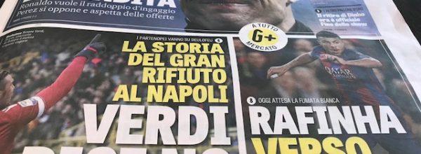 """Titoli dei giornali. Gazzetta dello Sport: """"Verdi dice no"""""""