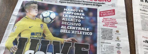 "I Titoli dei giornali. Stadio: ""Juve, colpo Jmenez."""