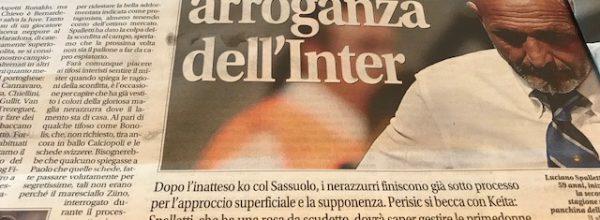 """Libero: """"La solita arroganza dell'Inter."""""""