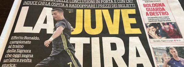 "I Titoli dei giornali. Stadio: ""La Juve tira."""