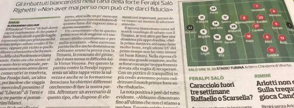 """Titoli dei giornali.Corriere Romagna:""""Rimini, continua il tour de force per sapere dove potrà arrivare."""""""