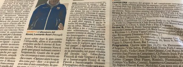 """I titoli dei giornali. Resto del Carlino: """" Rimini non c'è il tempo per festeggiare. """""""