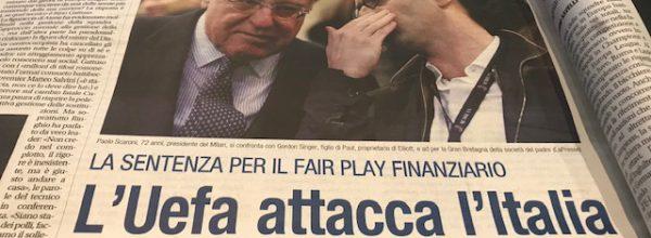 """Libero: """"L'Inter rivince lo scudetto.L'Uefa attacca l'Italia."""""""