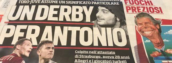 """I Titoli dei giornali. Stadio: """"Un derby per Antonio"""""""