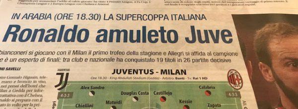 "Libero: ""Ronaldo amuleto Juve."""