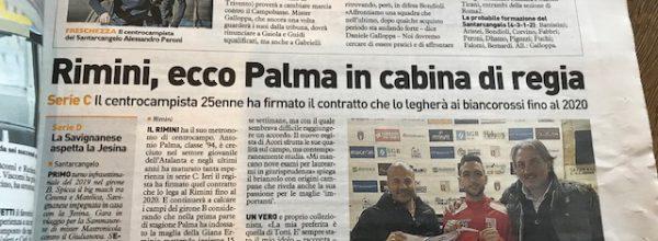 """I titoli dei giornali. Resto del Carlino: """"Rimini , ecco Palma in cabina di regia. """""""