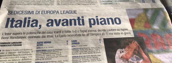 """Libero: """"Italia, avanti piano."""""""