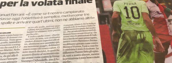 """Titoli dei giornali.Corriere Romagna: """"Il Rimini è pronto a resettare tutto per la volata finale.."""""""