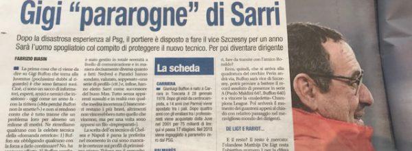 """Libero: """"Gigi """"paragone di Sarri."""""""