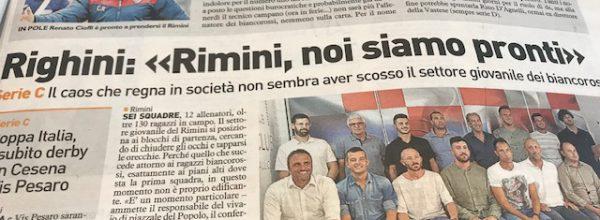 """I titoli dei giornali. Resto del Carlino: """"Biancorossi, Cioffi il nuovo allenatore e oggi scatta la preparazione."""""""