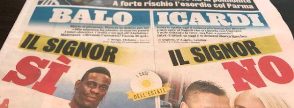 """Titoli dei giornali. Gazzetta dello Sport:  """"Allarme Sarri."""""""