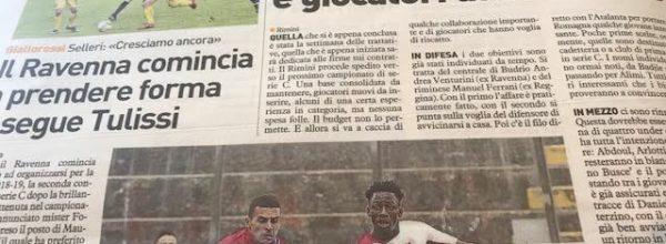 """I titoli dei giornali. Resto del Carlino: """"Rimini, mercato low cost tra giovani in prestito e giocatori da rilanciare."""""""