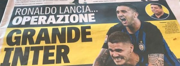 """Titoli dei giornali. Gazzetta dello Sport: """"Operazione grande Inter. """""""