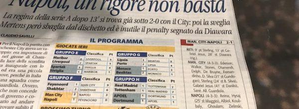 "Libero: ""Napoli, un rigore non basta."""
