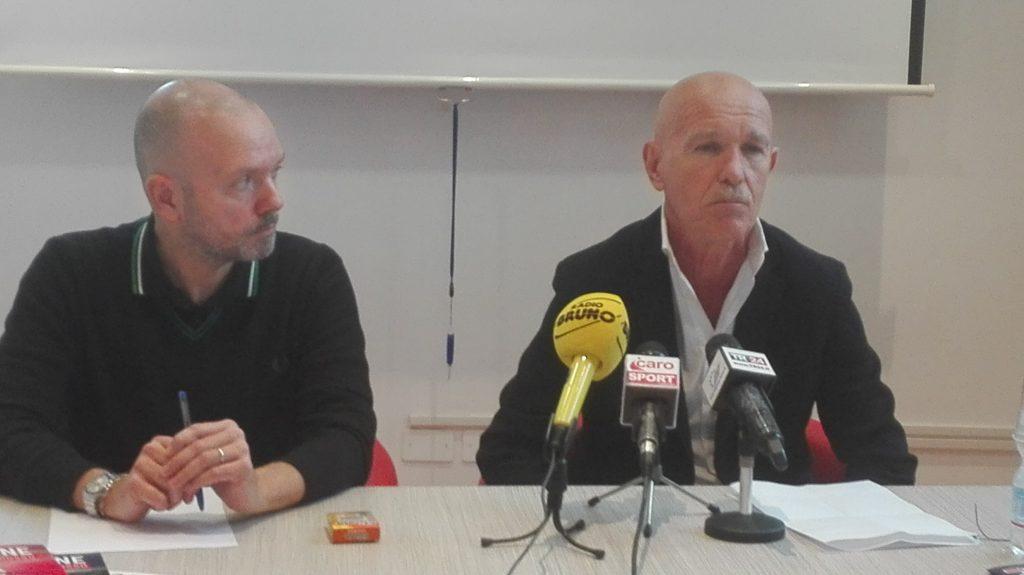 """Giorgio Grassi in conferenza stampa: """"Contento di Martini e non lascio il Rimini in caso di retrocessione."""