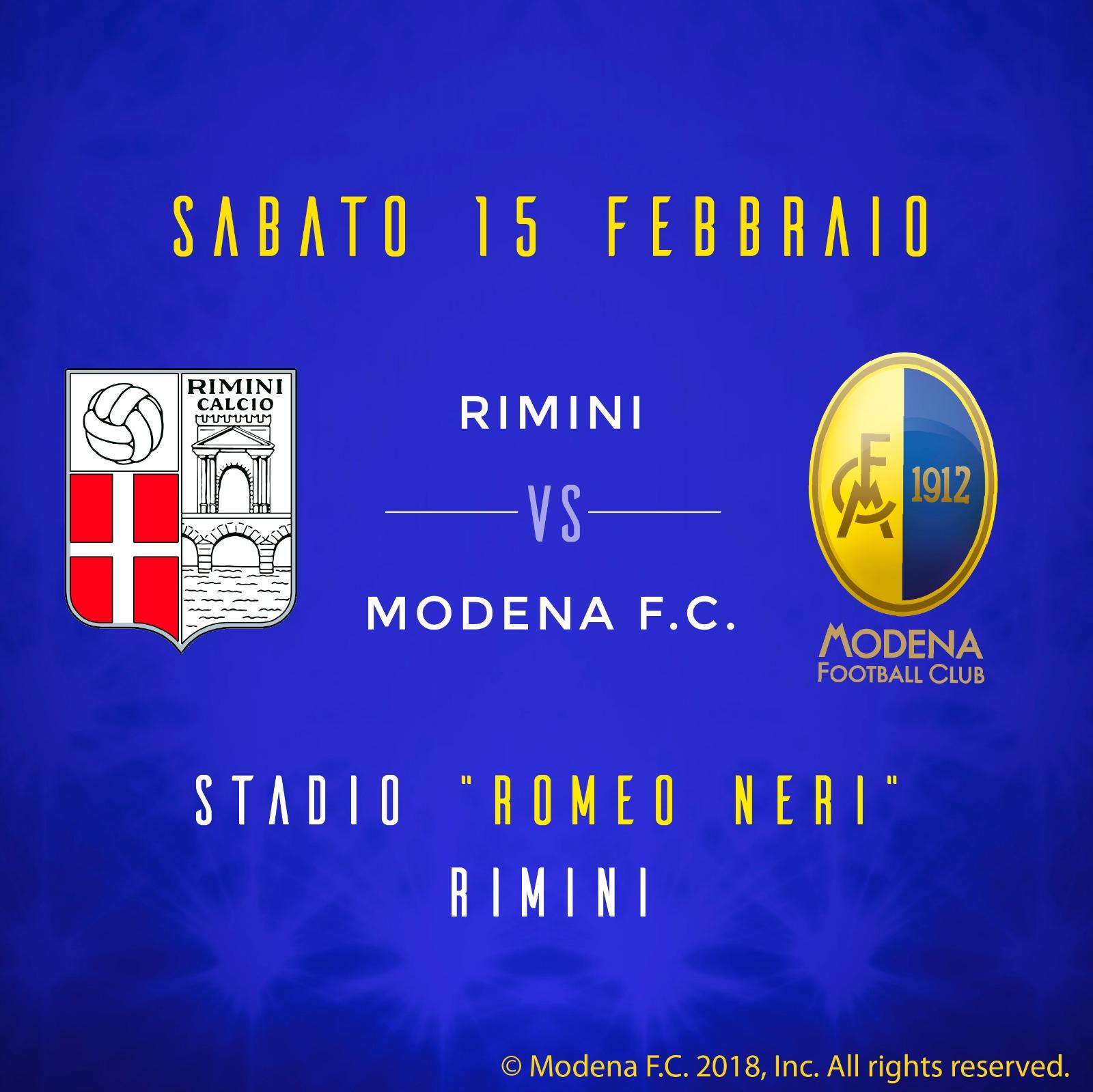 Finale: Rimini - Modena 2-0 Biancorossi lasciano la coda della classifica.