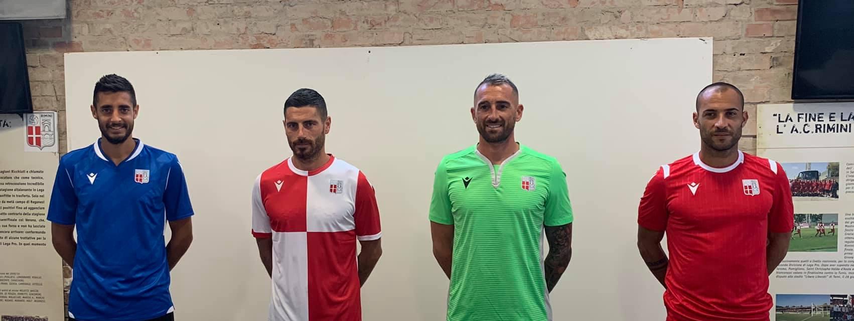 Ecco le nuove divise del Rimini per la stagione 2020-21